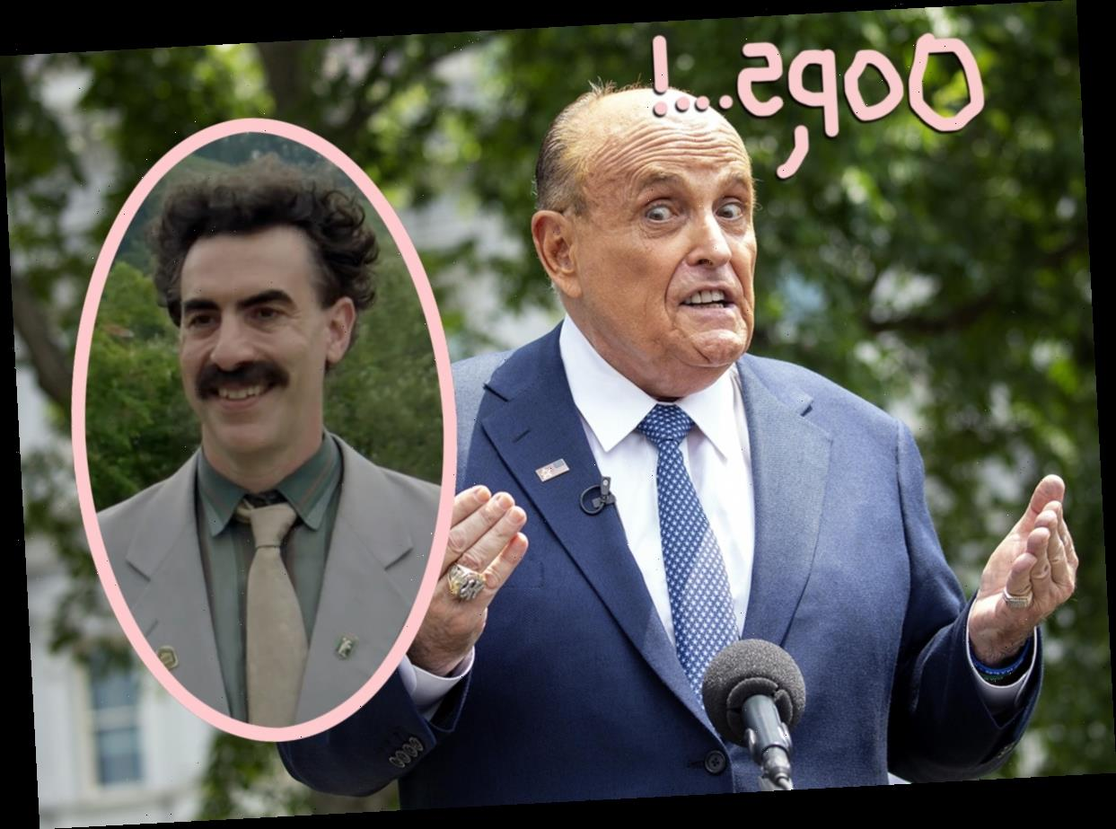Rudy Giuliani Caught On Camera Touching Himself In Front Of A Young Reporter In Borat 2!