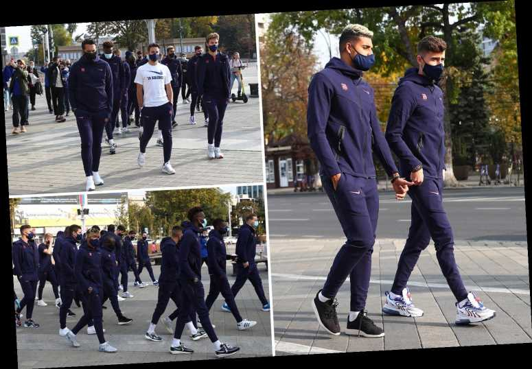 Chelsea leave Thiago Silva at home to have rest as squad take stroll to stretch legs ahead of Krasnodar clash