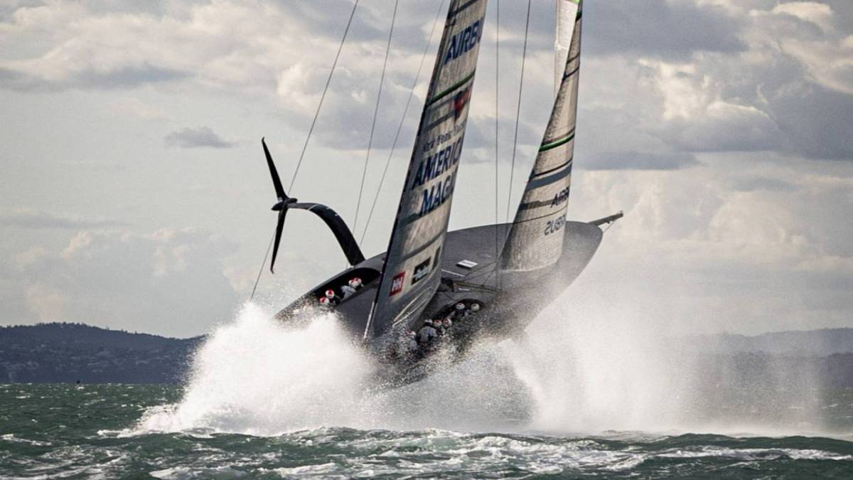 America's Cup 2021: American Magic releases footage of near-miss during debut sail of second boat 'Patriot'
