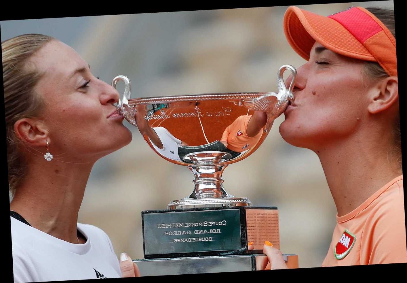 Quarantined in New York, Mladenovic wins doubles in Paris