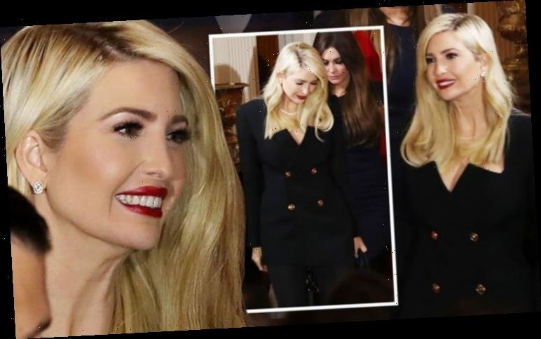 Ivanka Trump follows stepmother Melania in black suit for Donald's early morning speech