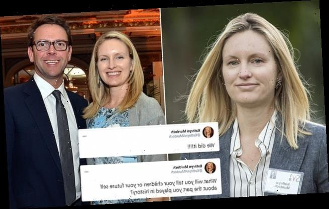 James Murdoch's wife tweets 'we did it!' and shares anti-Trump posts