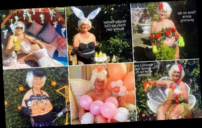 Fun-loving 80-year-old strips off for a charity calendar