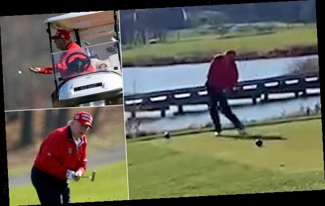 Video: Trump loses it during Thanksgiving Day round of golf