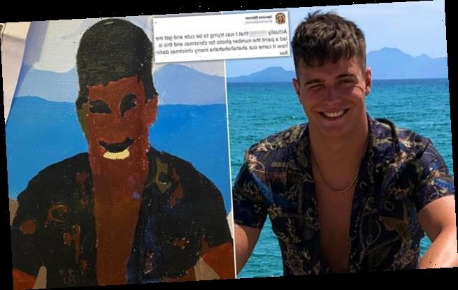 Woman's paint by numbers picture of her boyfriend goes VERY wrong