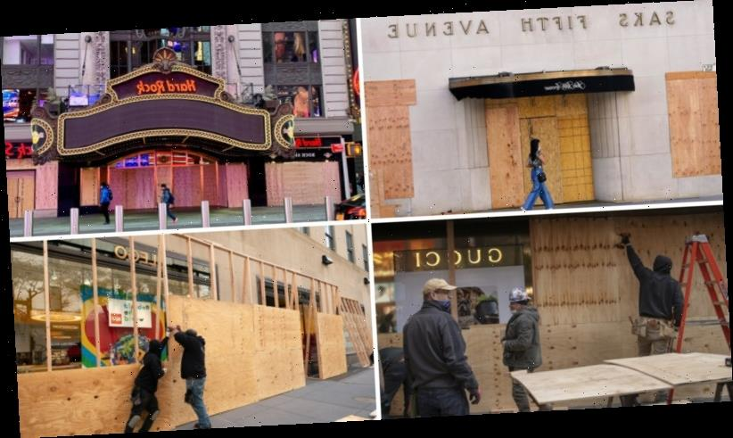 Barricaded behind plywood, New York is once again a city on edge