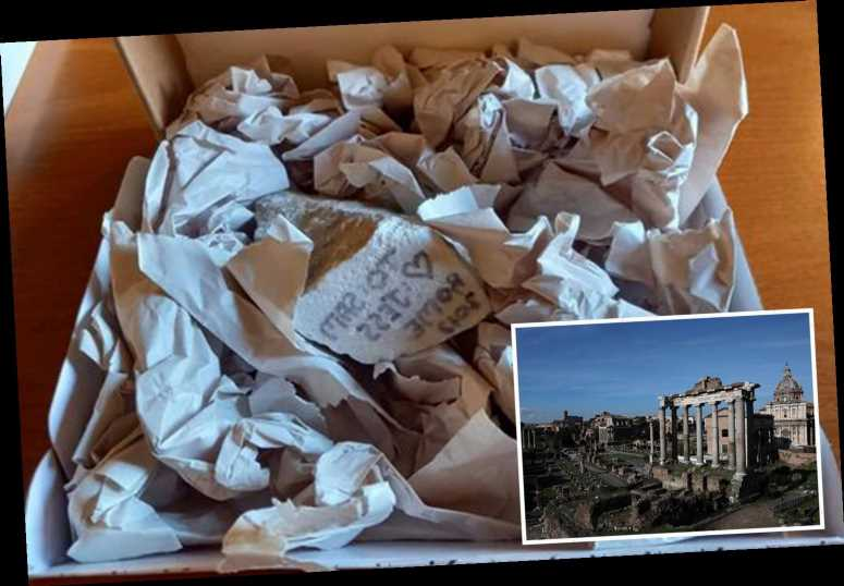 US tourist who stole Roman ruins as gift for her boyfriend gives it BACK and apologizes for being an 'American a**hole'