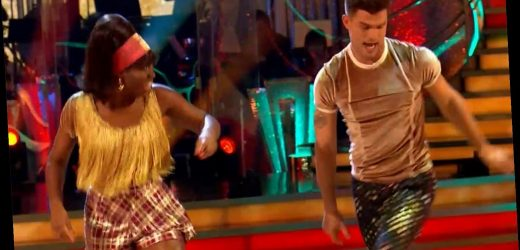 Strictly's Clara Amfo gets emotional after she forgets her Jive routine on live show