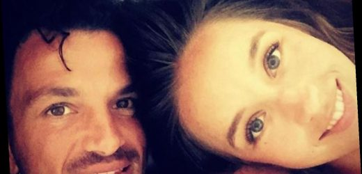 Peter Andre shares intimate topless selfie with wife Emily as they snuggle in bed