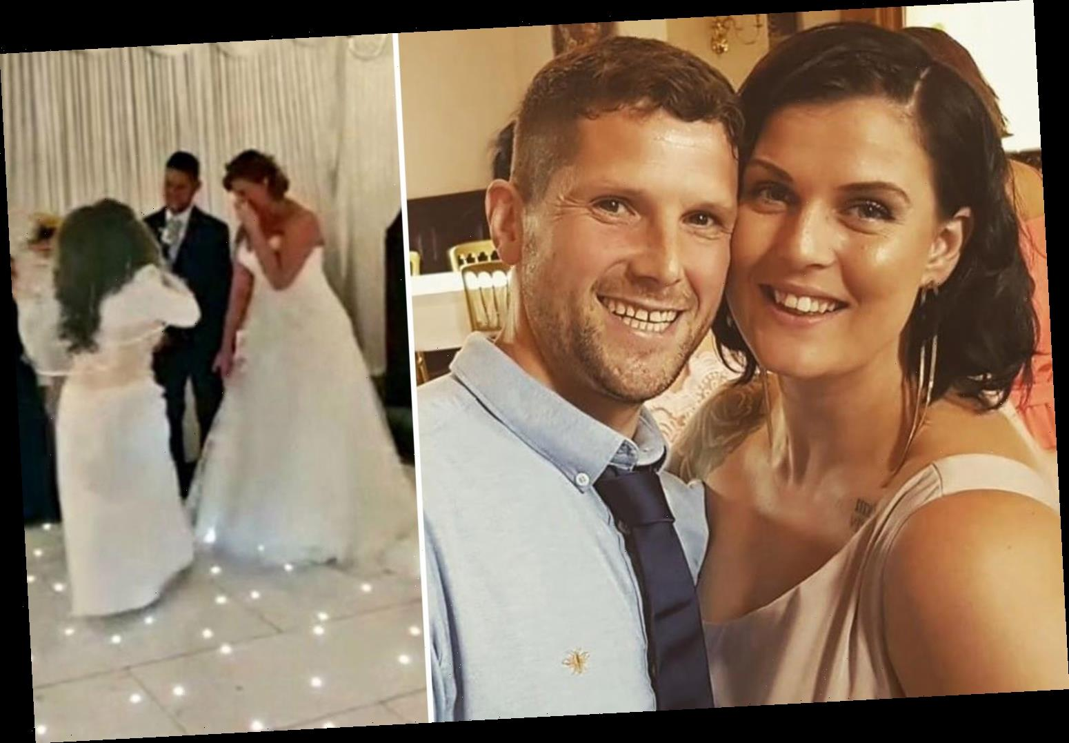 Groom's 'crazy ex' crashes wedding wearing BRIDAL GOWN screaming 'it should have been me' – but all's not as it seems – The Sun