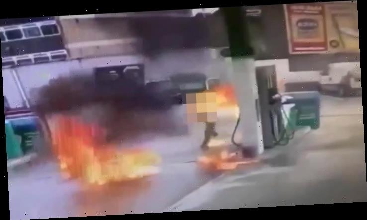 Tragedy as woman, 53, who caught fire at petrol station dies in hospital