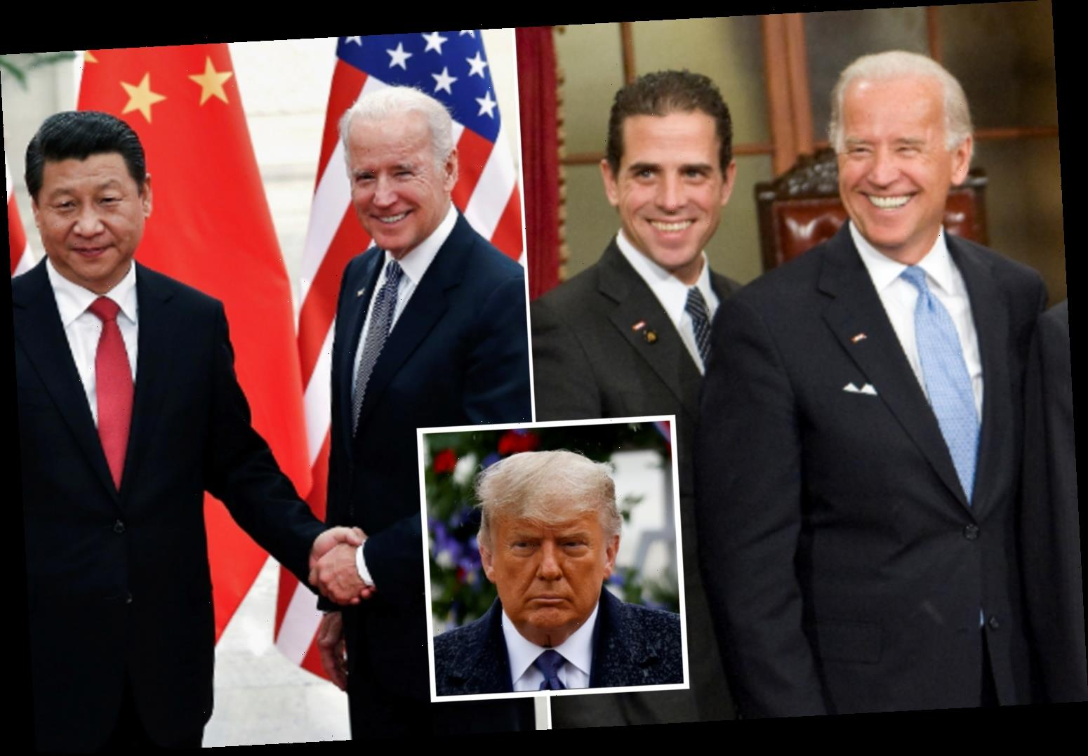 China congratulates Biden on election win after accusations Hunter Biden and Joe 'secretly took cash from China leaders'
