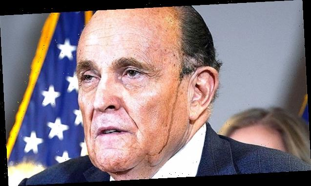 Giuliani Mocked For Quoting 'My Cousin Vinny' With Hair Dye Dripping Down Face As He Tries To Prove Voter Fraud