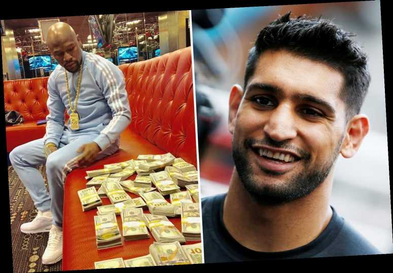 Floyd Mayweather returning to boxing aged 43 because he has blown his $1billion fortune, claims Amir Khan – The Sun