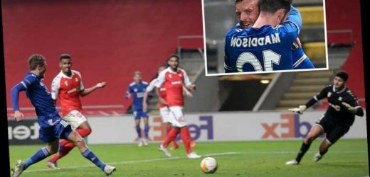 Braga 3 Leicester 3: Jamie Vardy scores stoppage time equaliser to fire Foxes into Europa League knockout stages