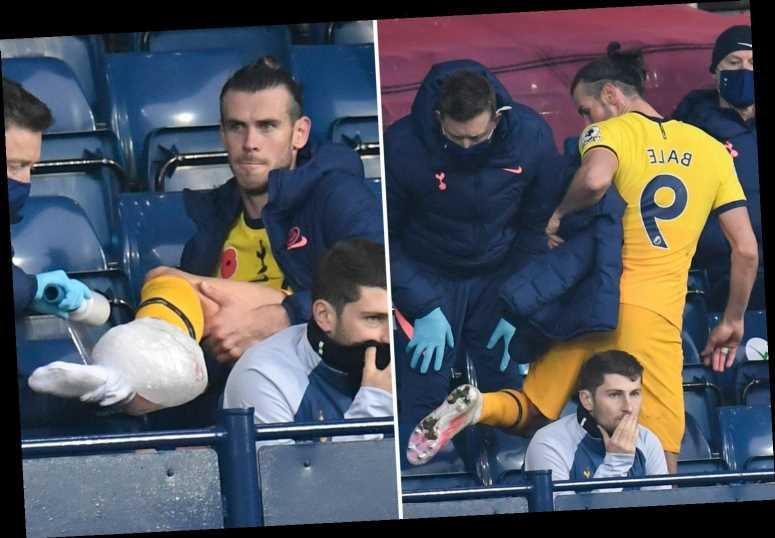 Gareth Bale in injury scare as Tottenham star is spotted icing ankle after coming off against West Brom