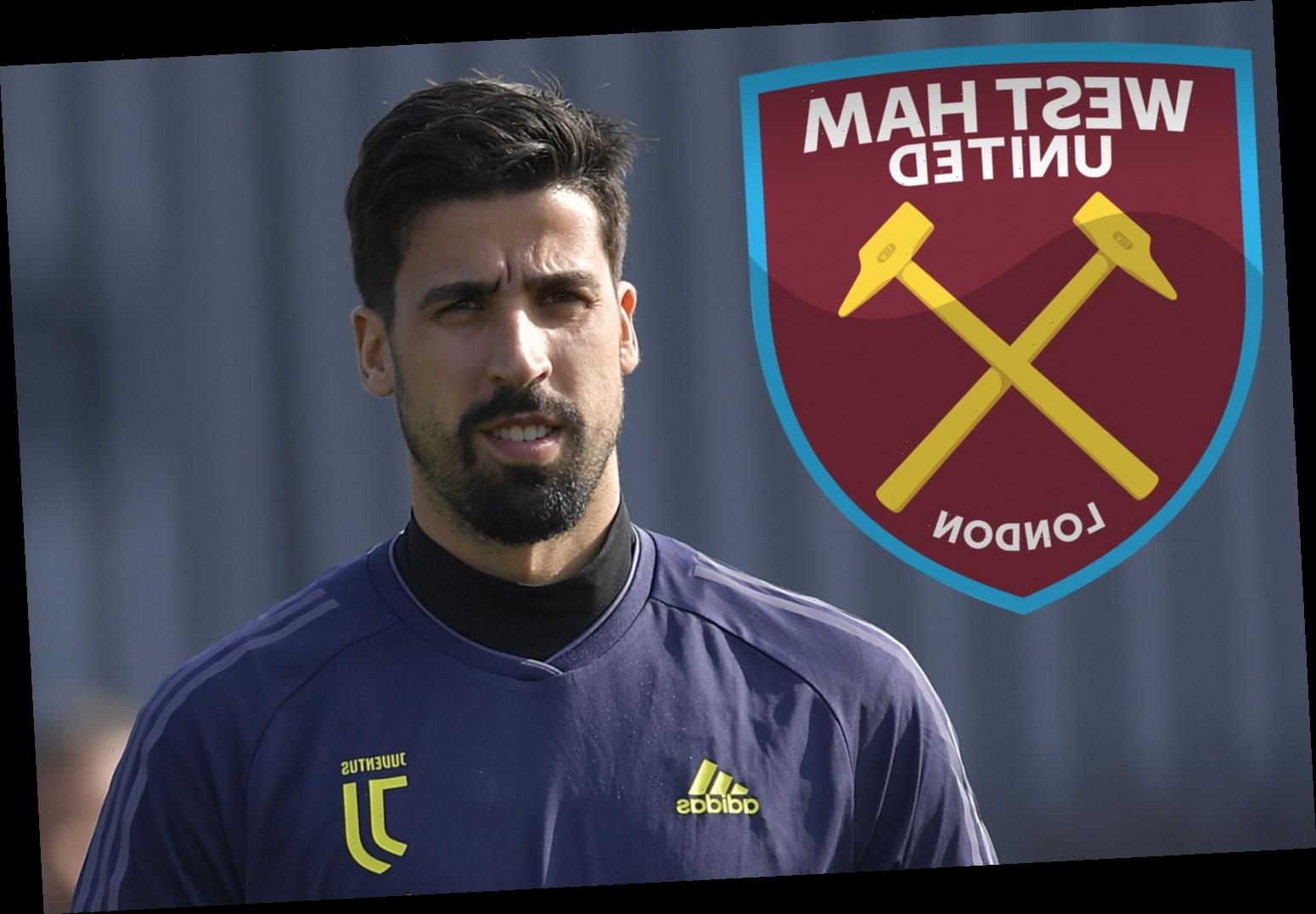 West Ham join Man Utd in shock Sami Khedira transfer race after Juventus star revealed 'dream' of Premier League move