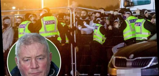 Rangers legend Ally McCoist slams Celtic 'nutcases' who protested outside stadium after Ross County defeat