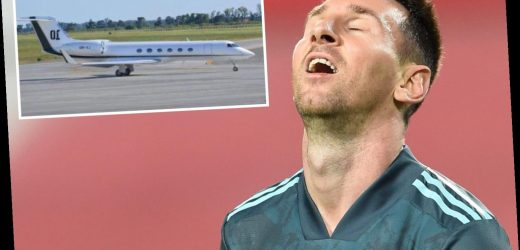 Lionel Messi has private jet stormed by Spanish tax agency on tarmac at Barcelona airport as star rages 'it's crazy'