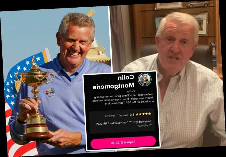 Multi-millionaire golf icon Colin Montgomerie joins Floyd Mayweather in flogging personal video messages for £124 a pop