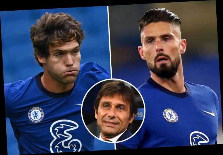 Inter plot triple transfer raid on Chelsea for Marcos Alonso, Olivier Giroud and Emerson Palmieri as Conte eyes reunion