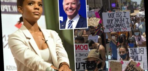 Candace Owens calls Black Lives Matter a 'Democrat scam from the beginning' that 'secretly funneled money to Joe Biden'