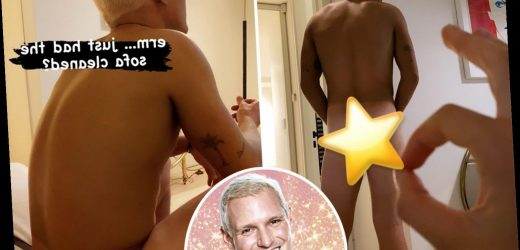 Strictly 2020's Jamie Laing strips totally naked as he shows off glowing orange tan ahead of tonight's show