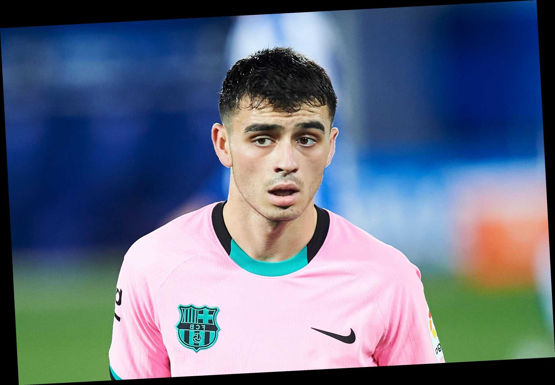 Barcelona slap massive £360m transfer release clause on sensation Pedri, 17, after stunning start to season
