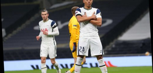 Watch Vinicius pull off Kylian Mbappe's iconic celebration after scoring his first goal for Tottenham vs Ludogorets