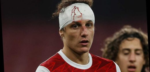 David Luiz needed seven stitches after horror clash of heads with Raul Jimenez but Arsenal insist he was NOT concussed