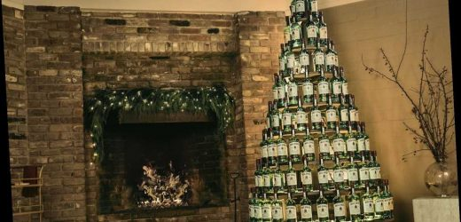 Here's how to win a $5K Christmas tree made of whiskey bottles