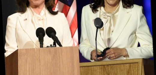 How SNL Perfectly Recreated Kamala Harris' White Pantsuit With Just Minutes to Spare