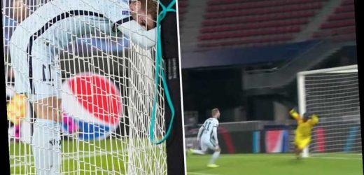 Watch Timo Werner miss another SITTER for Chelsea as striker balloons over bar from five yards out vs Rennes