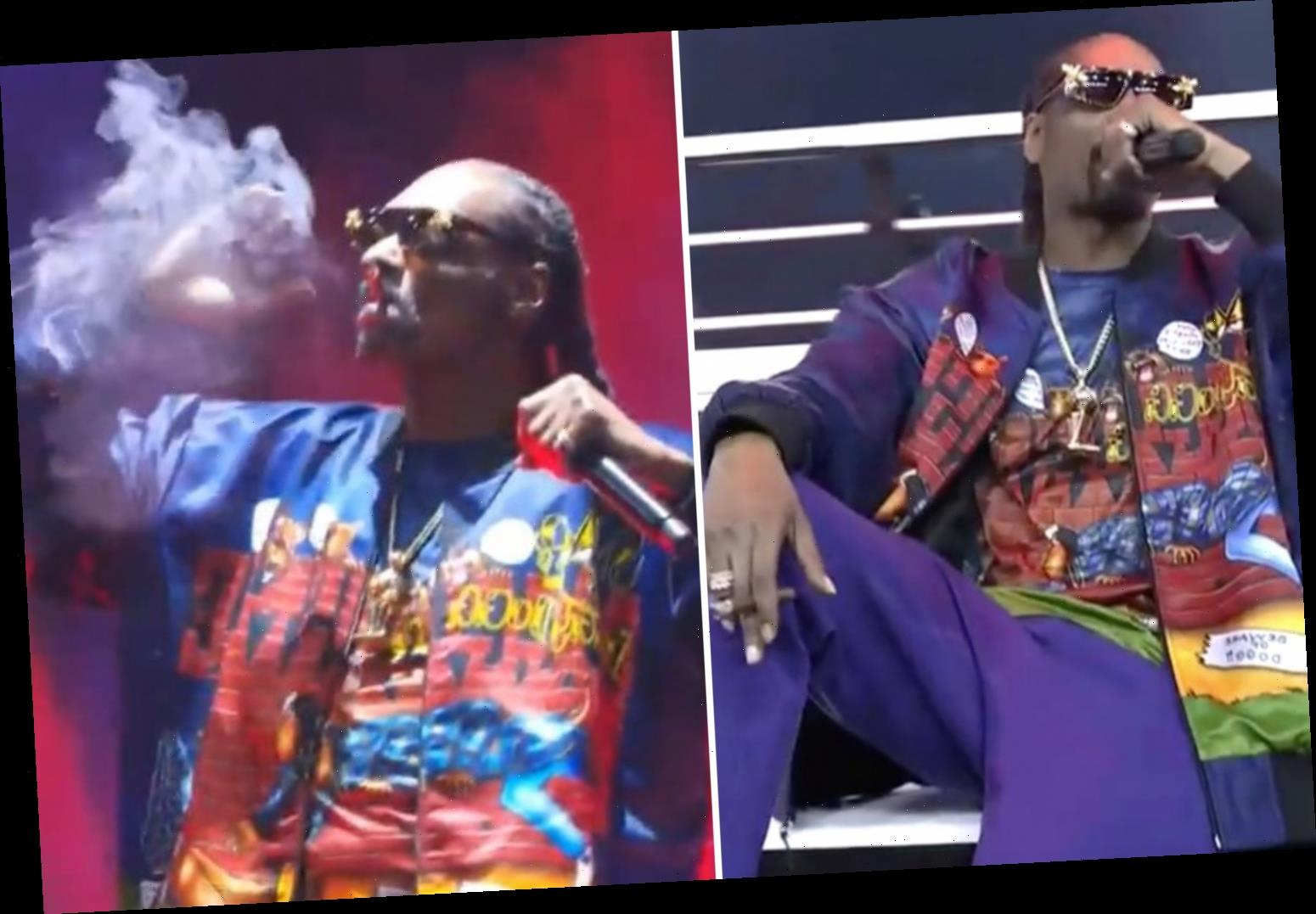 Wiz Khalifa and Snoop Dogg smoke 'blunts' on Mike Tyson PPV… and fans slam 'I ordered a fight not a concert'