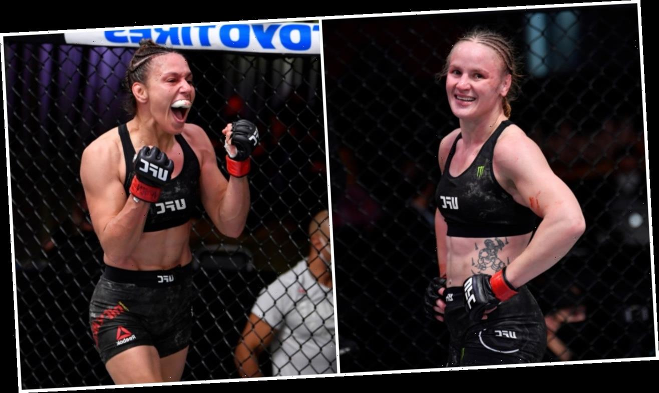 Valentina Shevchenko retains flyweight title as sister Antonina is also victorious on historic night at UFC 255