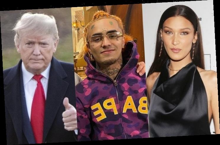 Bella Hadid Mocks 'Loser' Lil Pump for Saying He Will Leave U.S. If Donald Trump Is Not Re-Elected