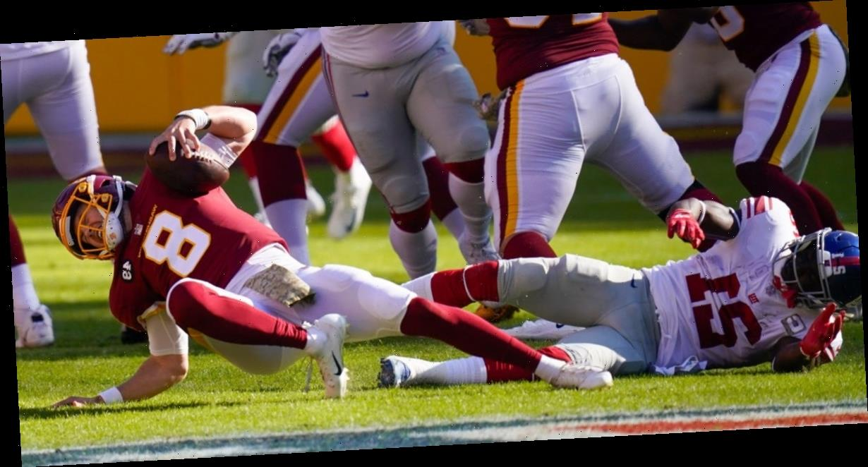 Washington quarterback Kyle Allen carted off field after gruesome ankle injury