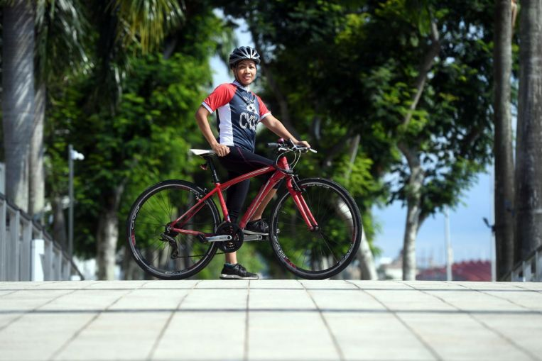 Determined to give back to society, foreign domestic helper Jannah Pascua runs and cycles to raise funds