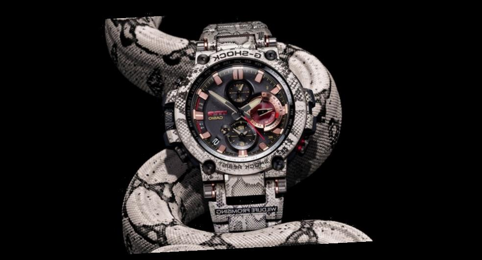 "Wildlife Promising and G-SHOCK Give MTGB1000 a ""Rock Python"" Makeover"