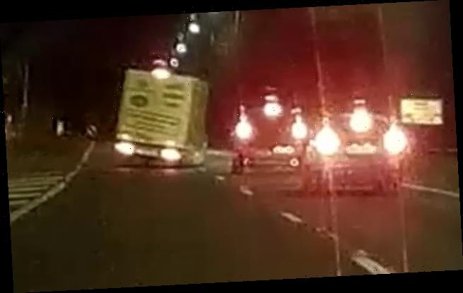 Morrisons delivery driver swerves across M6 nearly colliding with car