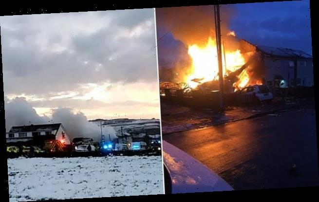 Explosion flattens family house in West Yorkshire