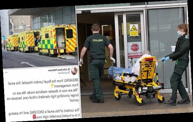 Britain's busiest hospital is in 'DISASTER medicine mode'