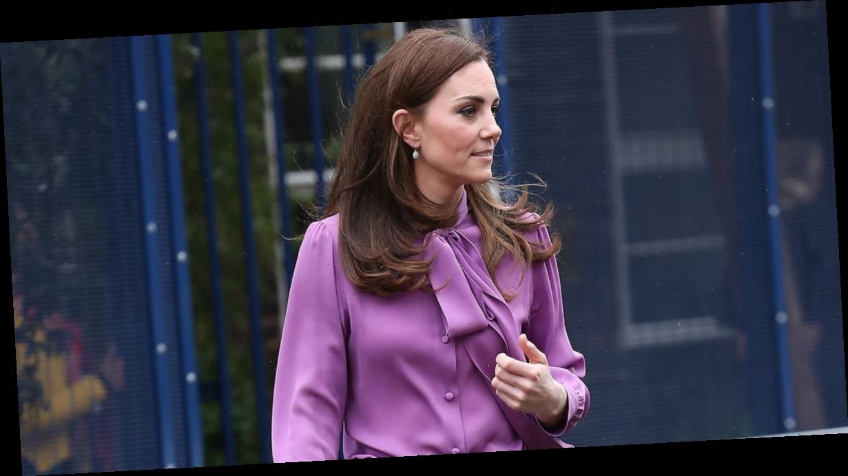 Is Kate Middleton Wearing Her Purple Gucci Blouse Backwards? Fans Are Convinced