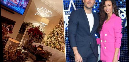 Mark Wright gives fans a rare look inside his home with Michelle Keegan as he shows off festive living room