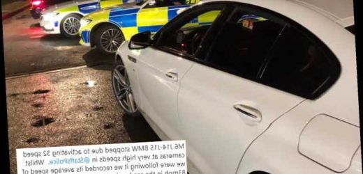 BMW driver faces 107 penalty points after setting off 32 speed cameras on M6