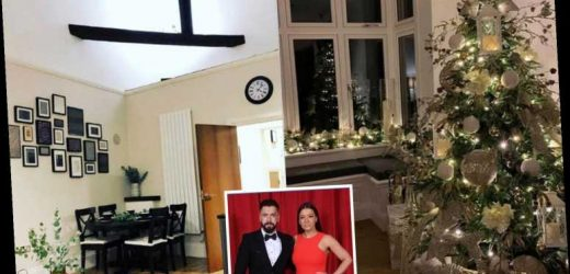 Inside Shayne Ward and Sophie Austen's stunning family home with glistening Christmas tree and art wall