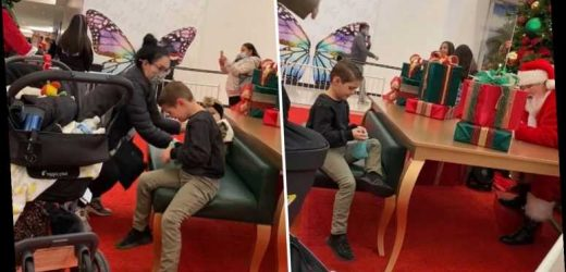 Shocking moment Santa leaves kid in floods of tears after telling him he WON'T get him a Nerf gun for Christmas