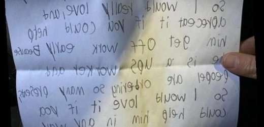 Delivery driver dad breaks down in tears after reading his son's teary letter to Santa & realising what he really wants