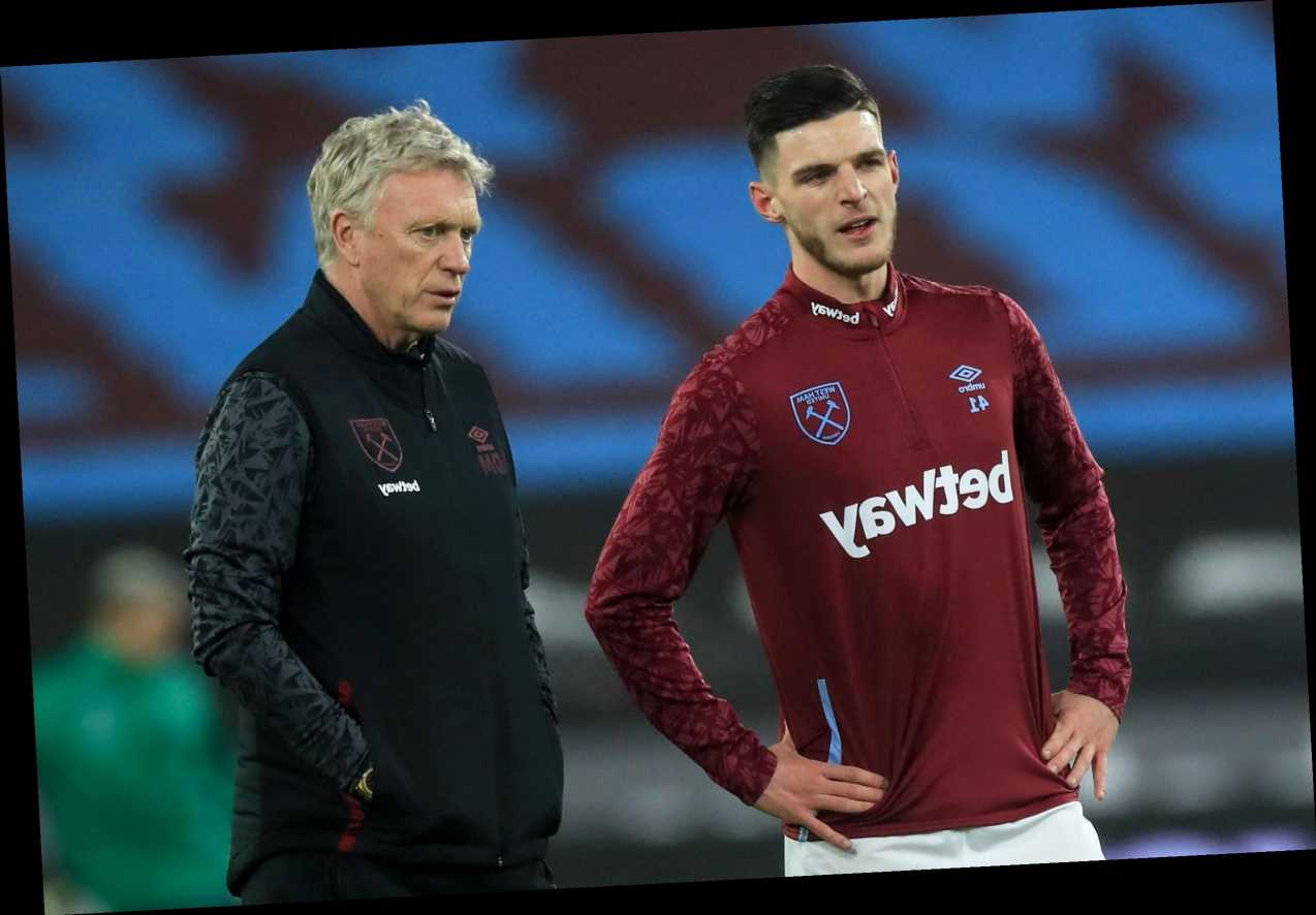 Moyes hopes West Ham will reward Declan Rice with new contract to persuade him to snub Chelsea transfer offer