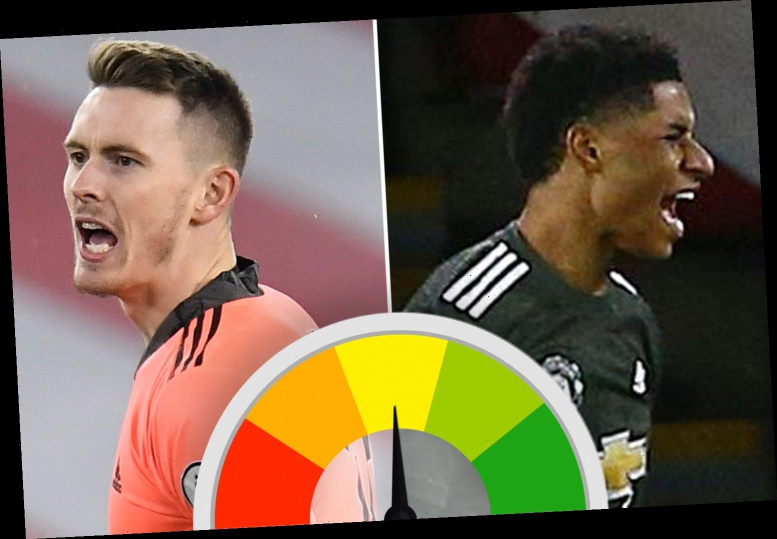 Man United player ratings: Marcus Rashford brilliance bails out early Dean Henderson clanger as United claim the points